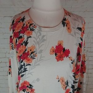 Talbots Sweaters - NWT Talbots Floral Scoop Neck Sweater